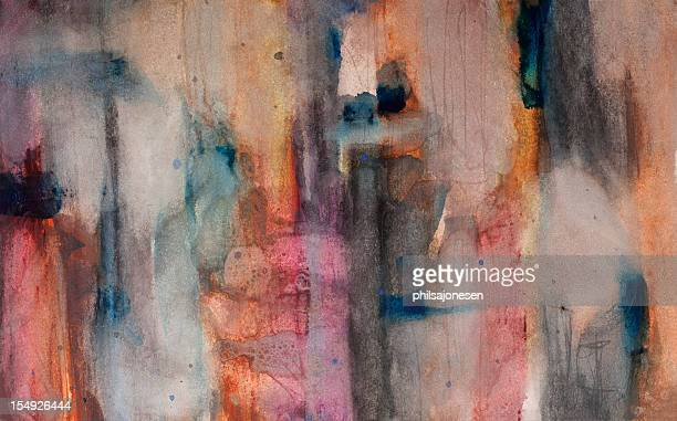 abstract painting - saturated colour stock illustrations