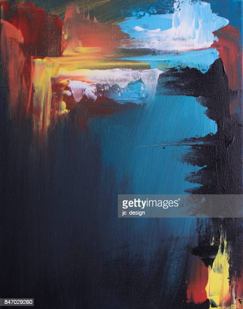 abstract painting - artistic product stock illustrations