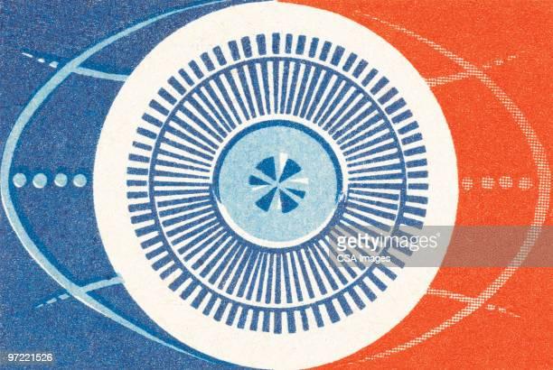 abstract pattern - human eye stock illustrations