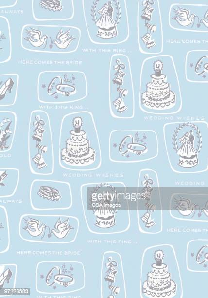 abstract pattern - wedding cake stock illustrations