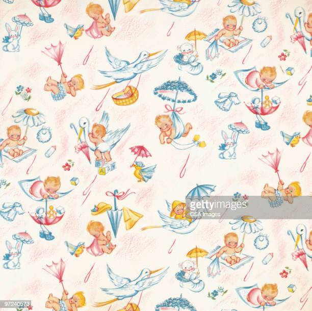 abstract pattern - baby stock illustrations