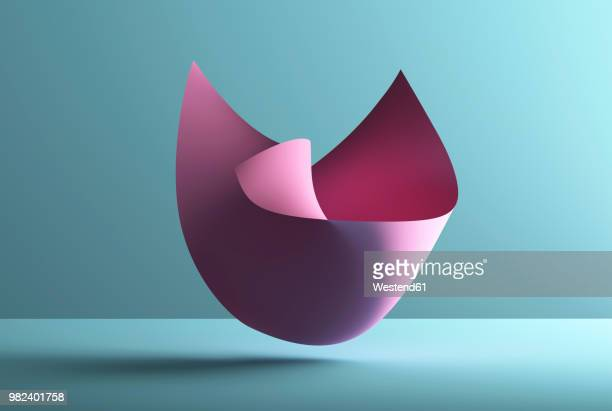 illustrations, cliparts, dessins animés et icônes de abstract shape over blue background, 3d rendering - douceur