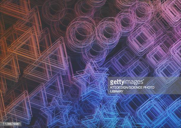 abstract shapes, illustration - triangle shape stock illustrations