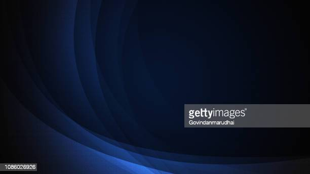 abstract shiny bright blue waves banner design - dark stock illustrations