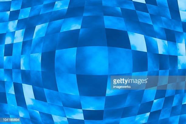 Abstract square, fisheye
