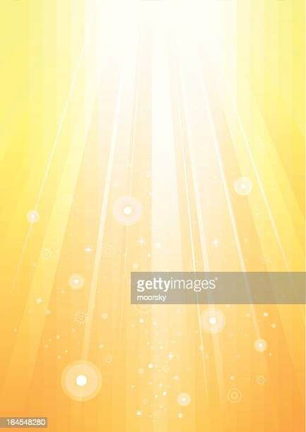 abstract sunlight gold background - flare stack stock illustrations, clip art, cartoons, & icons