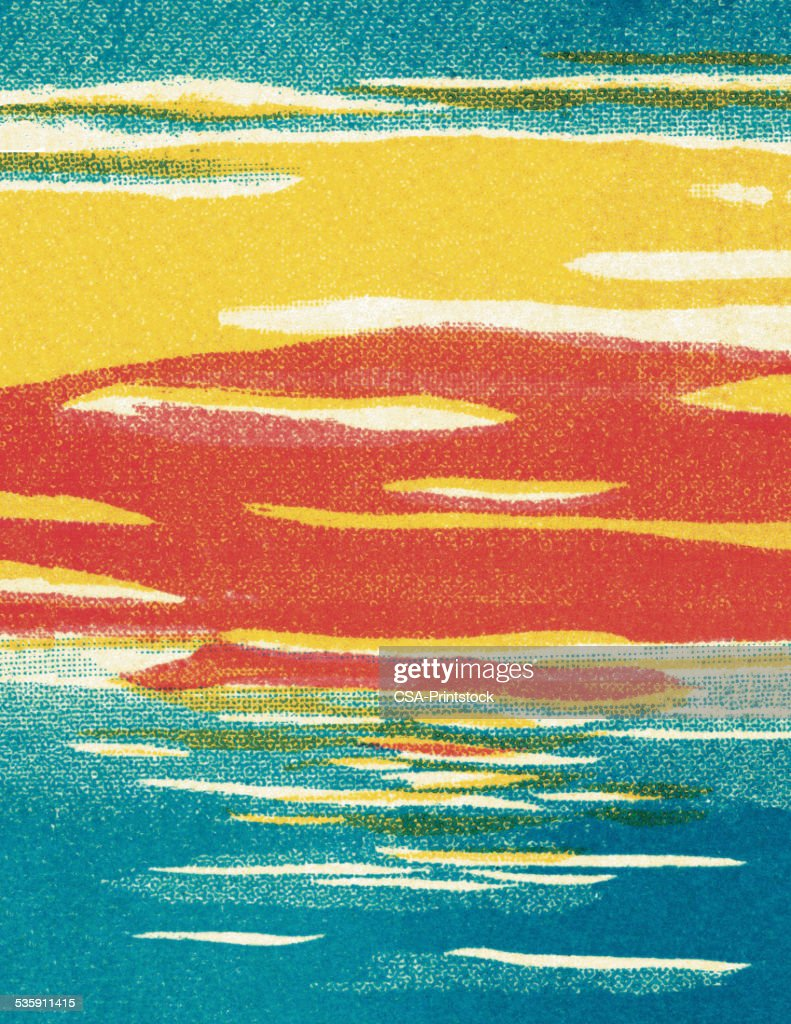 Abstract puesta de sol : Ilustración de stock