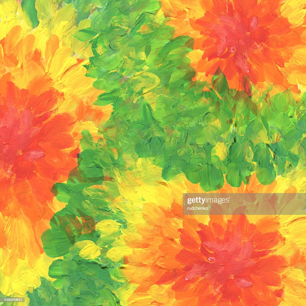 Abstract textured acrylic and watercolor  background. : Stock Illustration