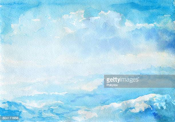 抽象的な水彩の風景