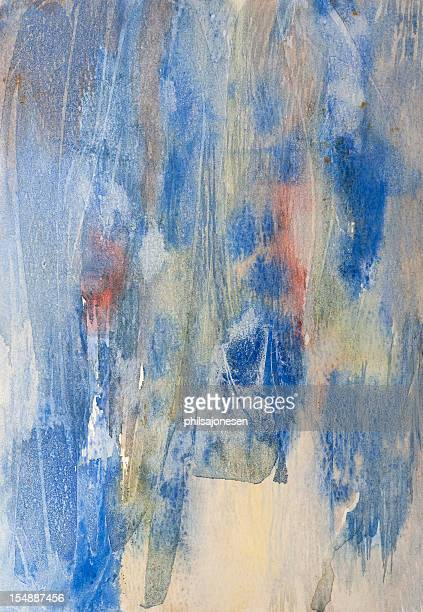 abstract watercolor painting - saturated colour stock illustrations
