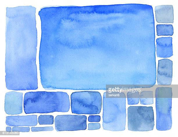 Abstract Watercolor Rectangle