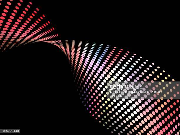 abstract wave made of coloured dots, illustration - spotted stock illustrations
