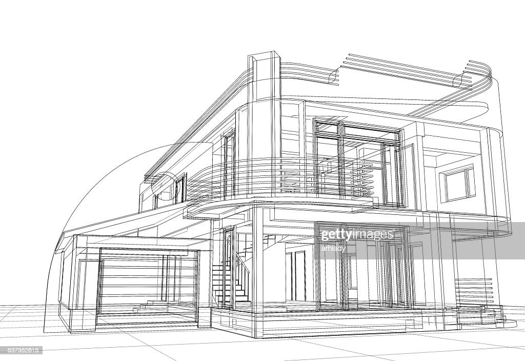 Free architecture sketch Images, Pictures, and Royalty