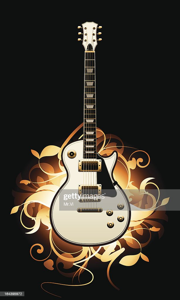Abstract with guitar