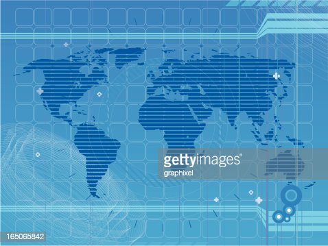 World map with white lights connected on blue marine background keywords gumiabroncs Image collections