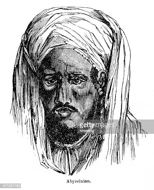 abyssinian - north african ethnicity stock illustrations, clip art, cartoons, & icons