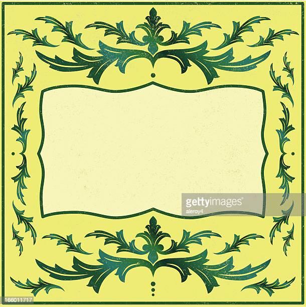 acanthus ボーダー緑色