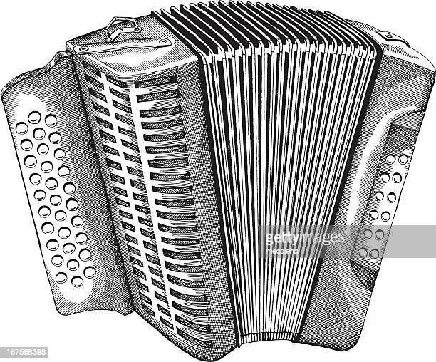 accordion - accordion instrument stock illustrations