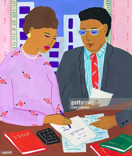 accountant - accounting ledger stock illustrations, clip art, cartoons, & icons