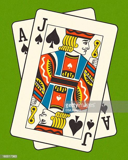 ace and jack of spades - ace stock illustrations, clip art, cartoons, & icons