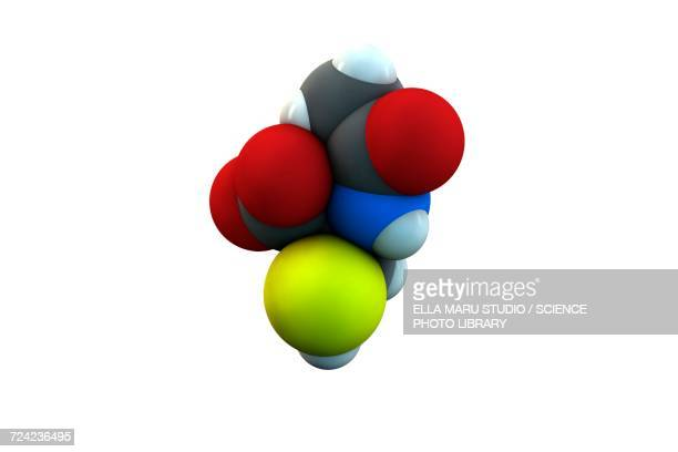 acetylcysteine mucolytic drug molecule - mucus stock illustrations, clip art, cartoons, & icons
