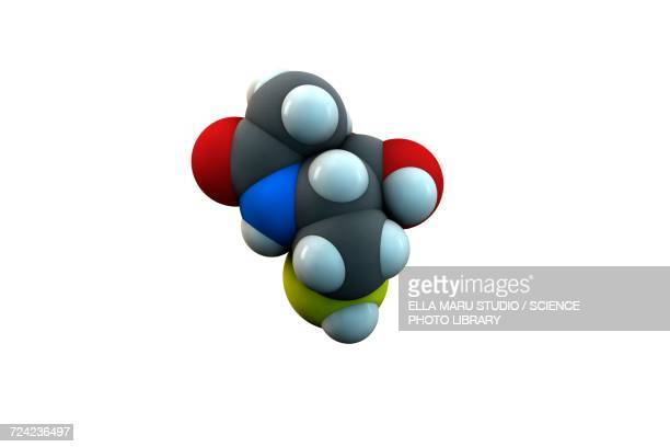 acetylcysteine mucolytic drug molecule - dissolving stock illustrations, clip art, cartoons, & icons