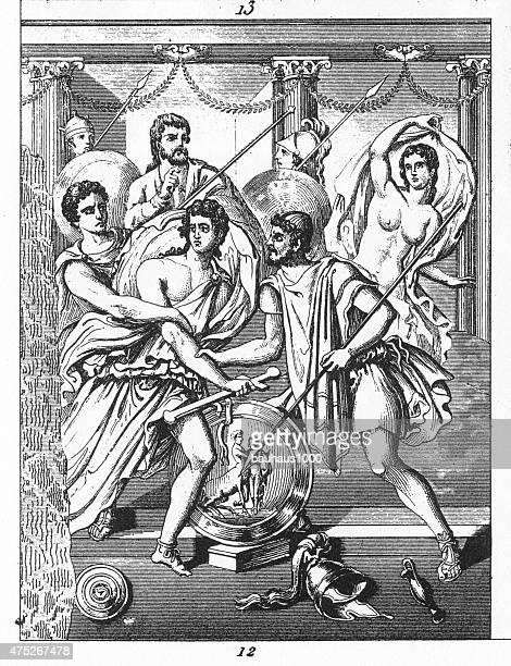 Aquiles e Briseis de Pompeia