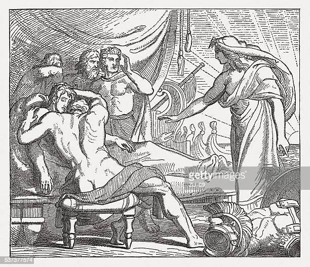 Aquiles, no Bier do seu amigo Pátroclo, a mitologia Grega