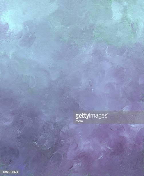 Acrylic painted abstract background in cold colors