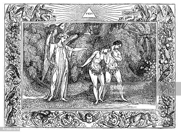 Adam and Eve expulsed by Cherubim angel