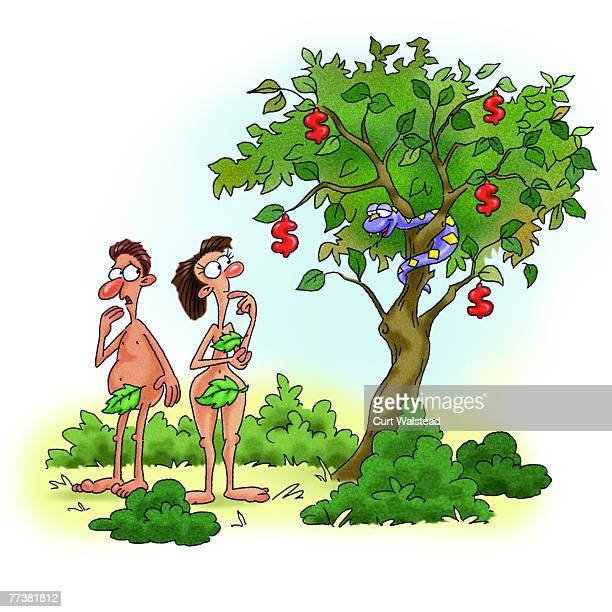 FreeBibleimages :: Adam and Eve disobey God :: Adam and