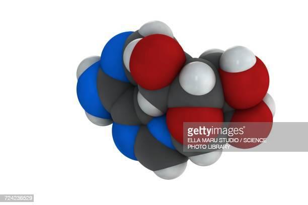 adenosine purine nucleoside molecule - rna stock illustrations, clip art, cartoons, & icons