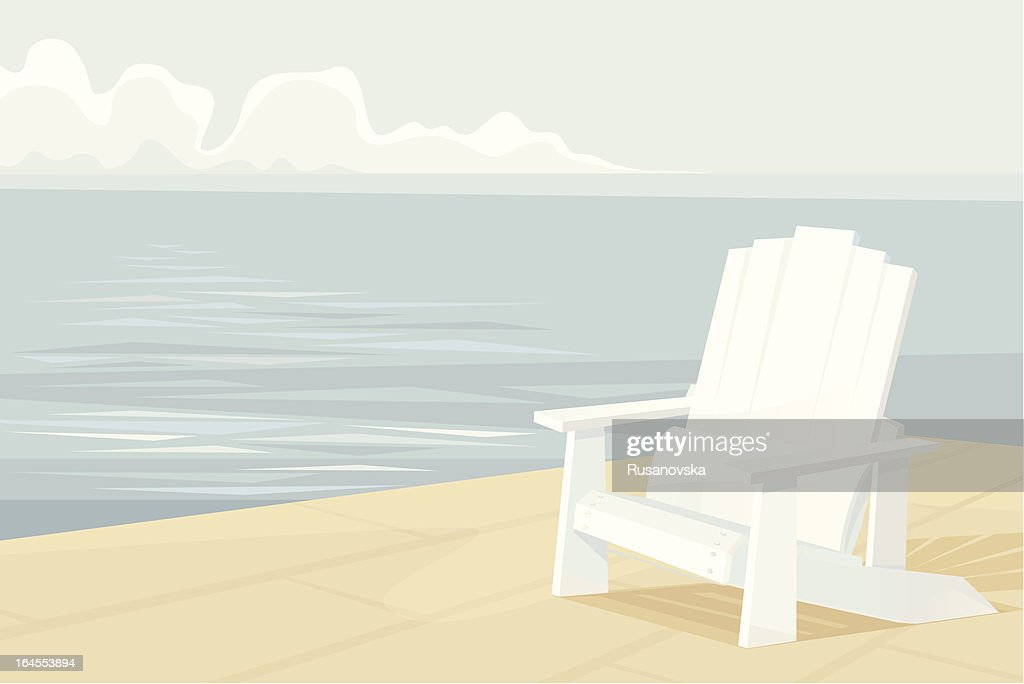 Adirondack Chair Vector Art   Getty Images