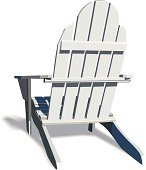 Adirondack Chair with soft shadow