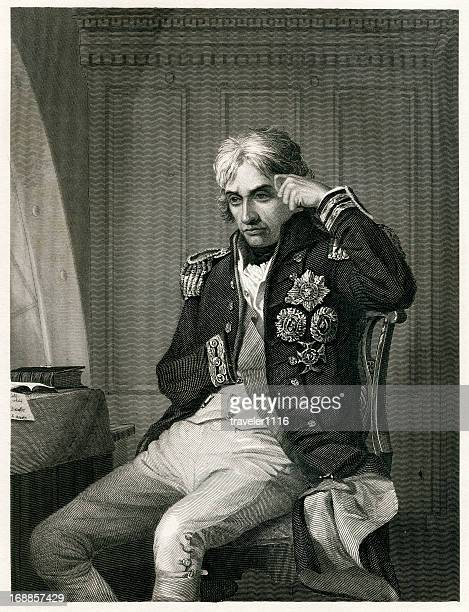 admiral horatio lord nelson - admiral nelson stock illustrations