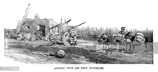Adobe Hut of the Pueblos