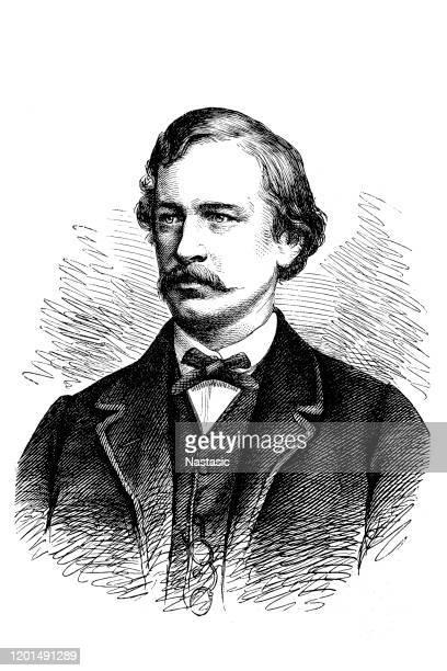 アドルフ・エリック・ノルデンスフェルト、スウェーデン語教授、極地探検家、1832-1901年、ドイツ極地探検家、1837-1908年 - 1890~1899年点のイラスト素材/クリップアート素材/マンガ素材/アイコン素材