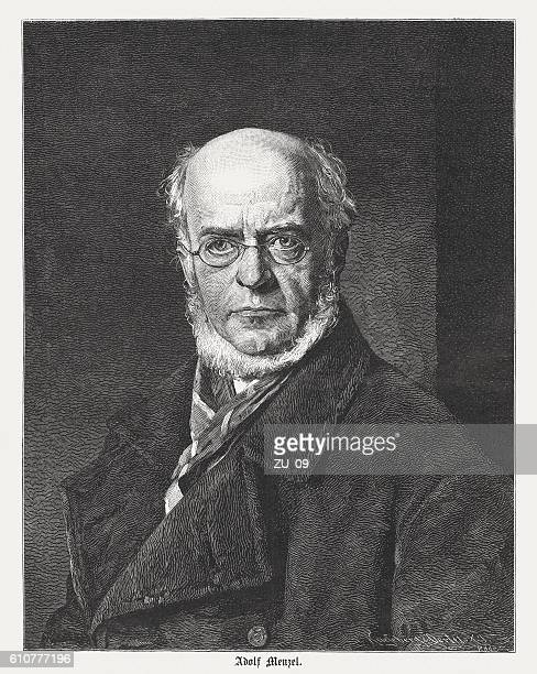 adolph menzel (1815 - 1905), german painter, published in 1874 - 1905 stock illustrations, clip art, cartoons, & icons