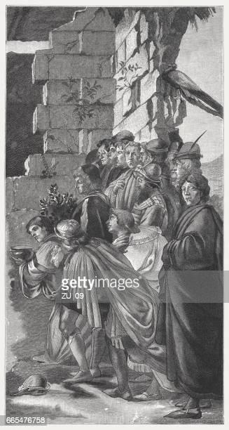 サンドロ ・ ボッティチェッリ、マギの礼拝描いた (1475、詳細)