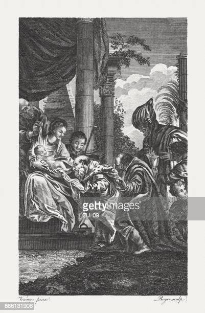 Adoration of the Wise Man (Matthew 2, 2), published 1774