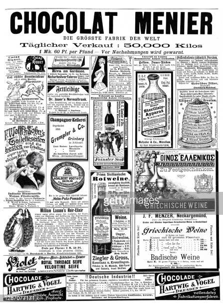 1892年の広告 - ヨーロッパ文化点のイラスト素材/クリップアート素材/マンガ素材/アイコン素材