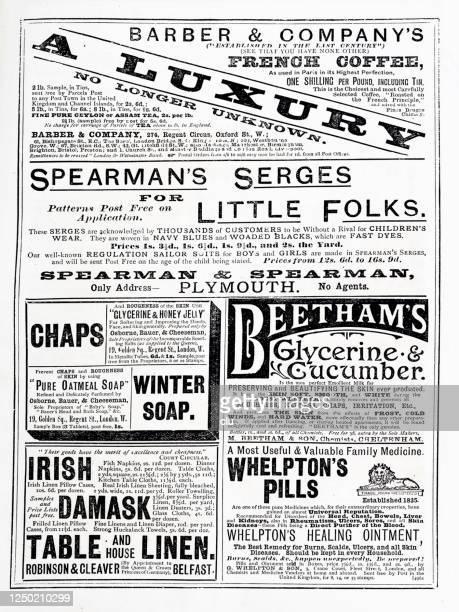 雑誌の広告、1890年 - クラシファイド広告点のイラスト素材/クリップアート素材/マンガ素材/アイコン素材