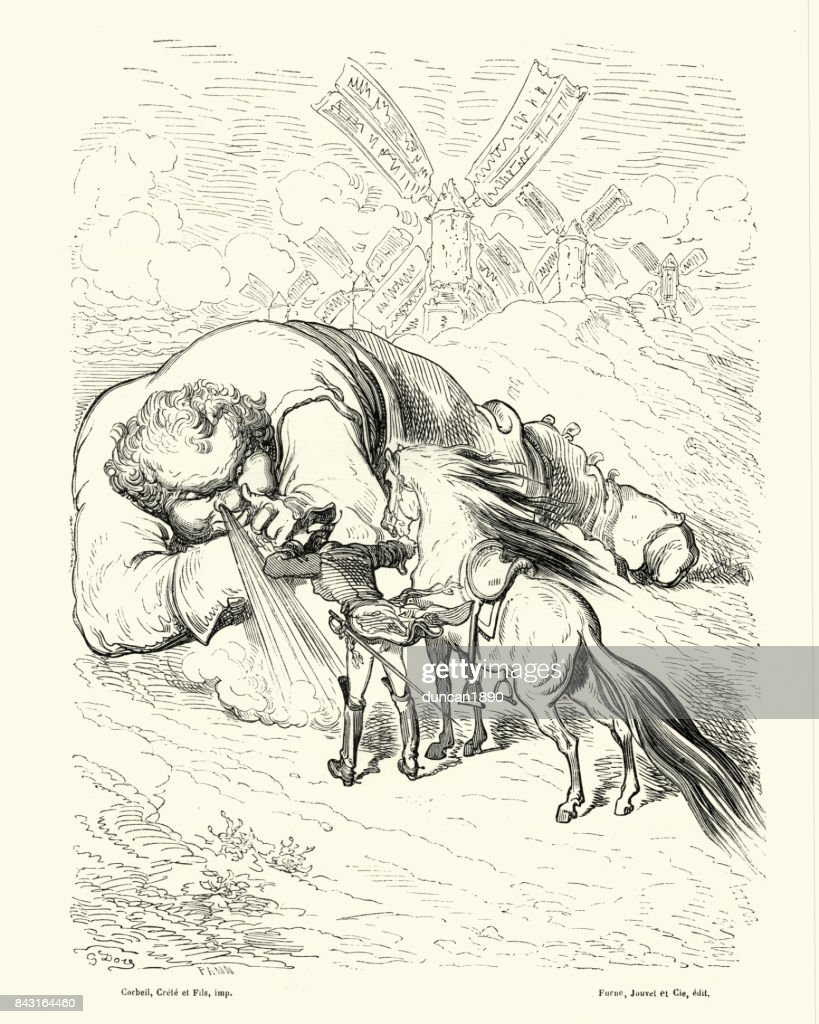 Adventures of Baron Munchausen, personage of a corpulence : stock illustration