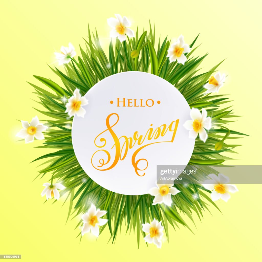 Advertisement About The Spring Sale On Defocused Background With