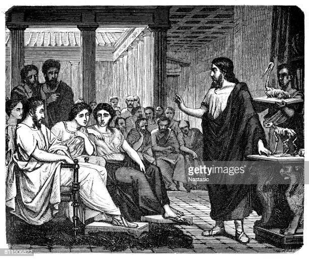 aelius galenus or claudius galenus - aristotle stock illustrations