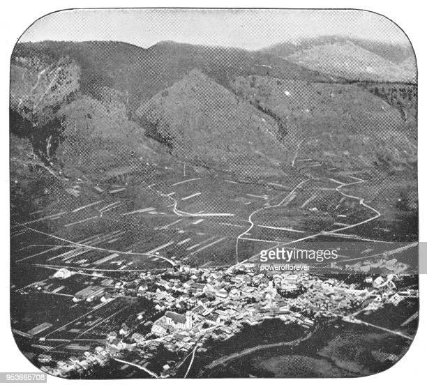 Aerial Townscape of Oberammergau, Germany - 19th Century