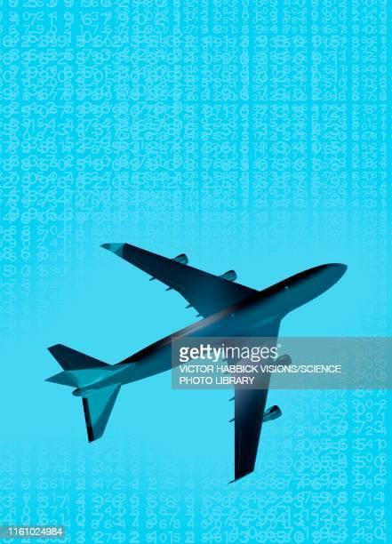 aeroplane, illustration - low angle view stock illustrations