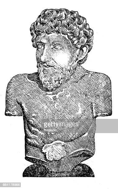 ilustrações, clipart, desenhos animados e ícones de aesop, uma antiga grécia fabulist e contador de histórias (620 – 564 bc) - arte, cultura e espetáculo