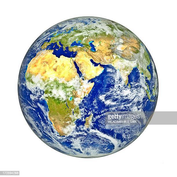 africa and asia, artwork - satellite view stock illustrations