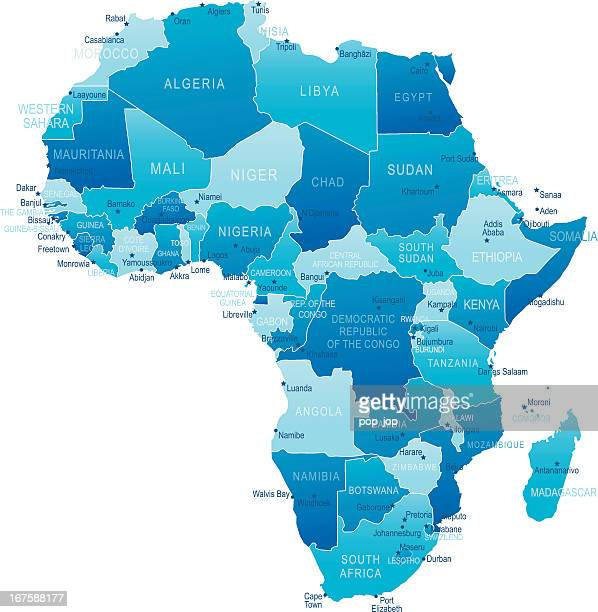 africa - highly detailed map - west africa stock illustrations, clip art, cartoons, & icons